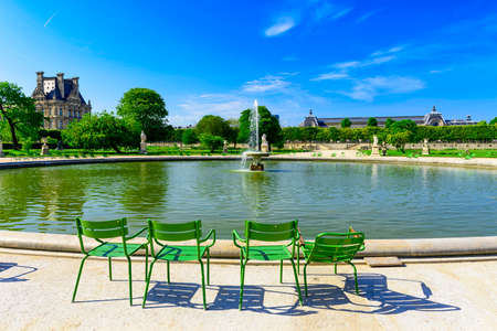 Tuileries Garden is public garden between Louvre Museum and Place de la Concorde in Paris, France