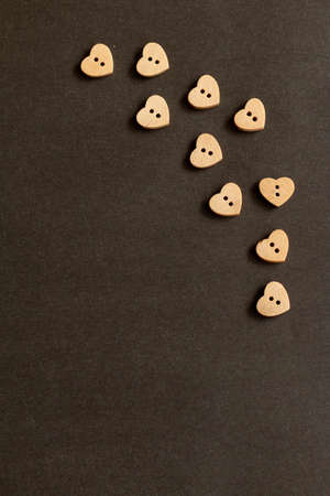 boutons sur fond en bois avec espace de copie Banque d'images
