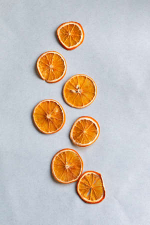 background with dried oranges