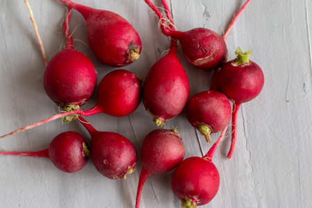 Ugly food trend. Radish is useful for female reproductive system. Organic homegrown vegetable