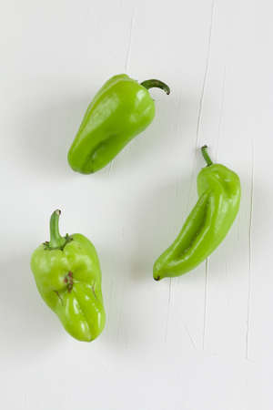 sweet green pepper, trendy ugly vegetables. space for text