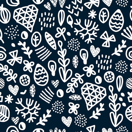 Vector seamless repeating wallpaper with figures illustration.