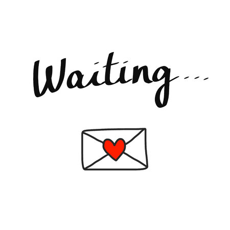 Waiting for email lettering poster