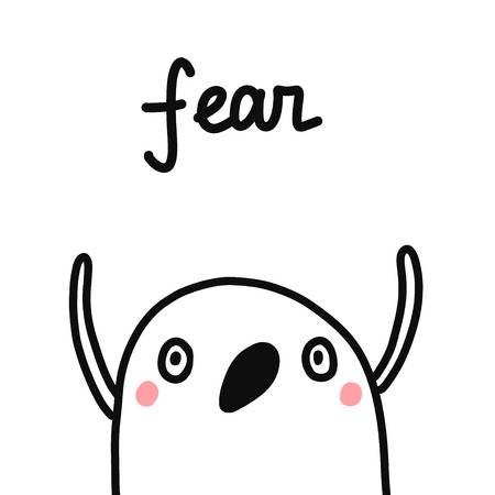 Fear hand drawn illustration for prints posters psychological articles journals psychotherapy emotions and feelings human sins project