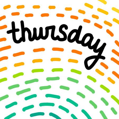 Thursday hand drawn illustration in abstract style cartoon minimalism