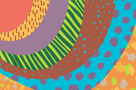 Creative art background hand drawn in vibrant colors. Collage. Vector. Textures for banner poster card cover invitation placard brochure or header artistic