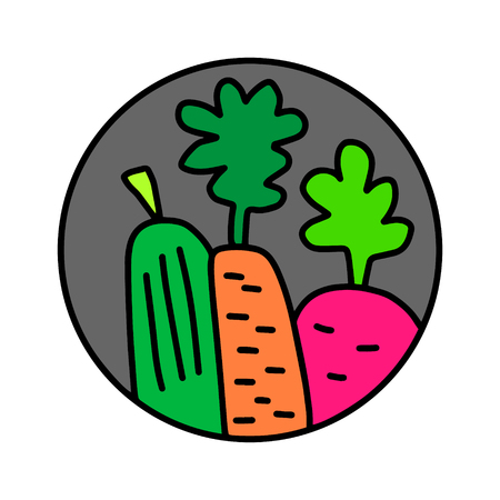 Vegetables and fruits hand drawn  for prints posters t shirts branding fruit store bar vegan restaurant drinks cocktails