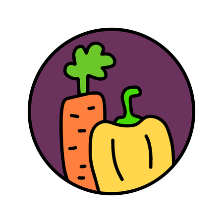 Vegetables hand drawn  for prints posters t shirts branding fruit store bar vegan restaurant drinks cocktails