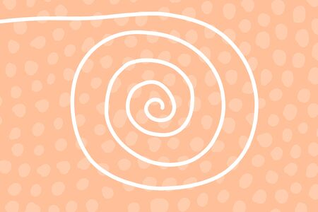 Colorful textured abstract spiral background hand drawn