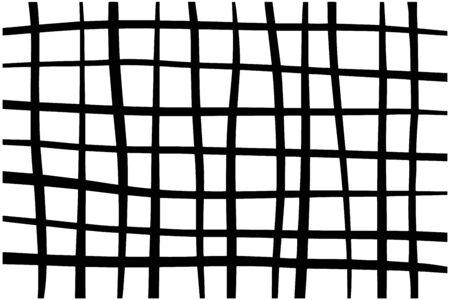 Red dibujada a mano en estilo de dibujos animados fondo de pantalla vector fondo minimalismo negro blanco Ilustración de vector