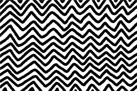 Black white zigzag hand drawn vector background in cartoon comic style wallpapers contrast form Foto de archivo - 133556593