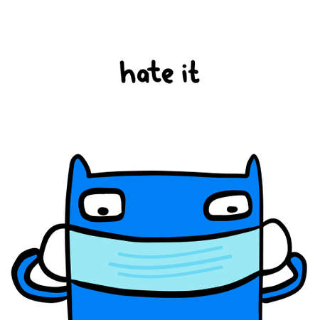 Hate it hand drawn vector illustration in cartoon doodle style