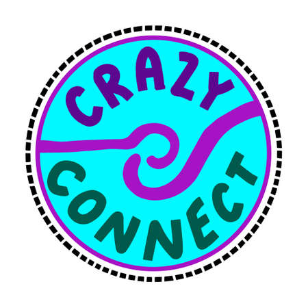 Crazy connect hand drawn vector illustration in cartoon doodle style