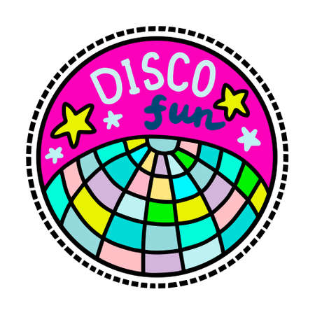Disco fun hand drawn vector illustration in cartoon doodle style