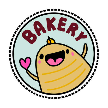 Bakery hand drawn vector illustration in cartoon doodle style 向量圖像