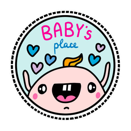 Baby place hand drawn vector illustration in cartoon doodle style 向量圖像