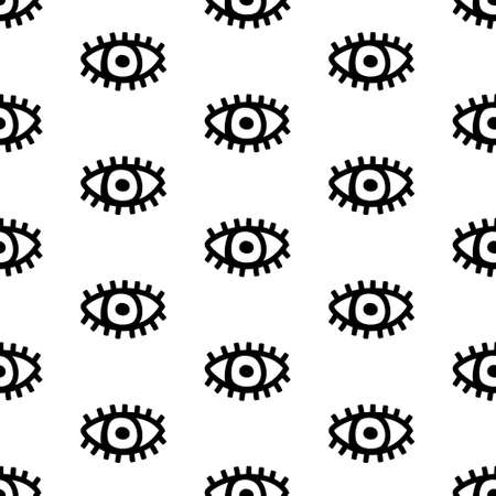 Surreal eyes open seamless pattern in doodle style vector hand drawn 向量圖像