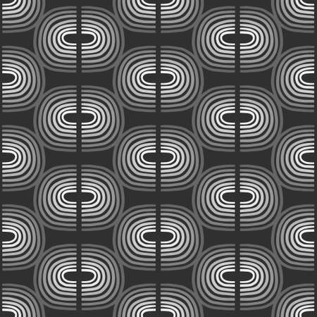 Black white grey abstract forms seamless hand drawn pattern