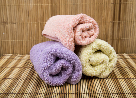different items for Spa isolated on Mat