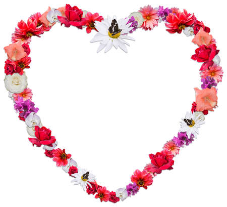 Beautiful Heart Made Of Different Flowers As A Symbol Of Love