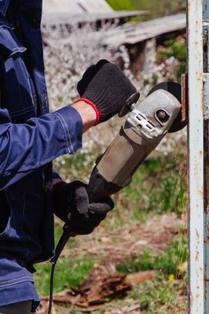 The Man Saws Angular Grinding Machine Iron Details of the fence.