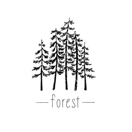 Tribal illustration with wild forest design elements.