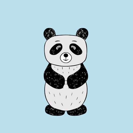 cute baby girls: Vector illustration of  baby panda. Isolated cartoon animal
