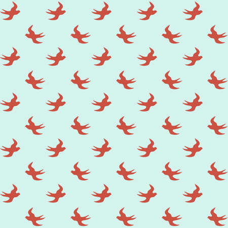 Bright  vintage background with seamless pattern Stock Photo