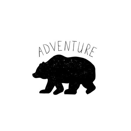 exploring: Tribal ilettering Adventure with wild forest bear
