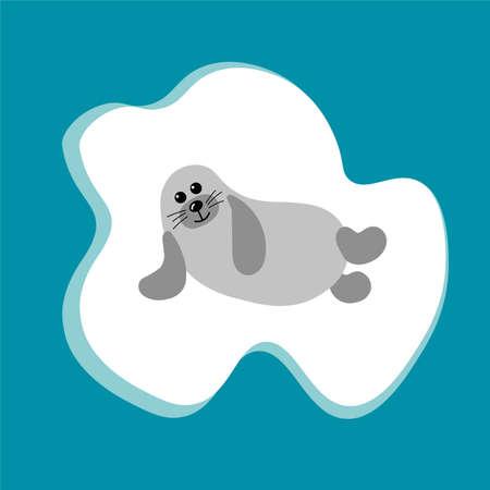 Cartoon sea lion image illustration