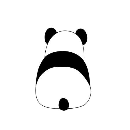 Vector flat illustration with funny panda