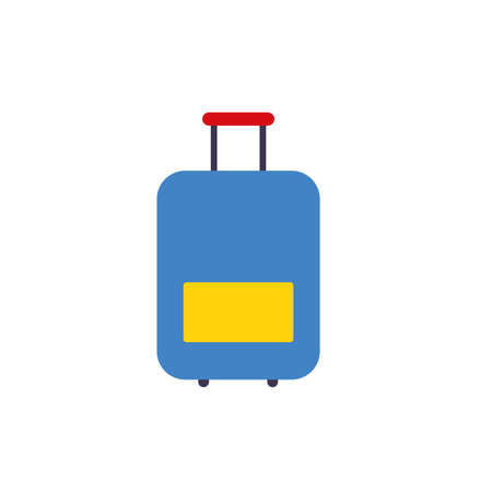 Vector illustration of suitcases in simple flat style Çizim