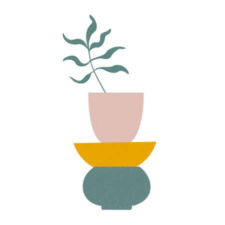 Modern illustration in trendy earthy hues