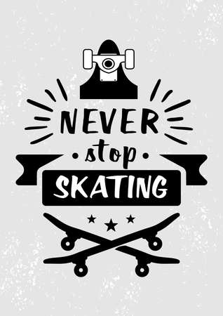 Vector illustration with skateboard elements