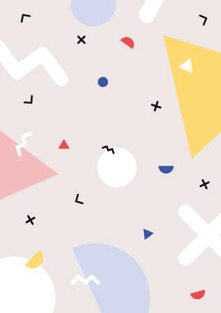Colorful trendy Memphis geometry print Zdjęcie Seryjne - 138582680