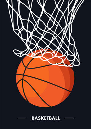 Vector sport illustration with ball