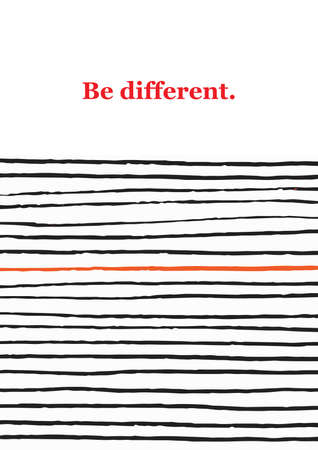Doodle creative concept with chaos lines and quote