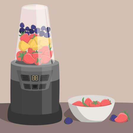 Healthy Nutrition: Fresh Fruit Smoothie Smoothie Çizim