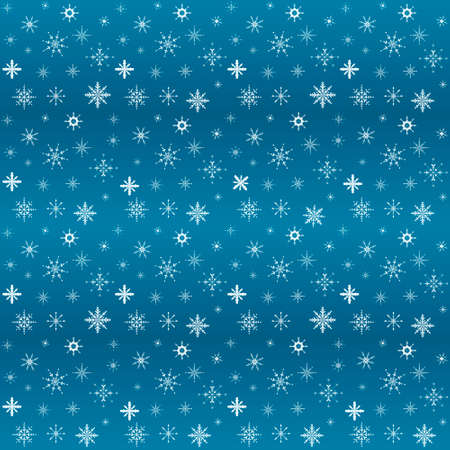 Vector flat illustration. Set of New Year and Christmas shiny snowflakes. Background decoration. Seamless pattern. Illusztráció