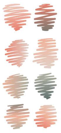 Set of abstract vector template elements. Collection of gradient blots or brush strokes. Pictures for decoration. Vector Illustration