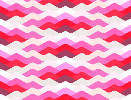 sinuous: Abstract seamless wavy pattern in red and pink colors Illustration