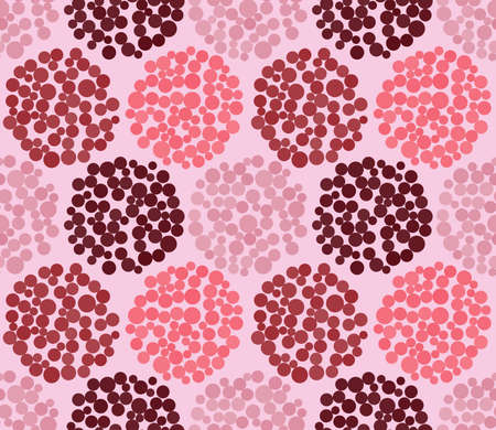 light pink: Seamless festive patternin bright, dark and soft pink colors dot in light pink background