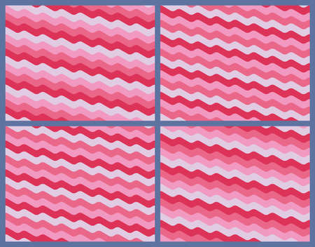 sinuous: Set of abstrackt seamless wave pattern Illustration