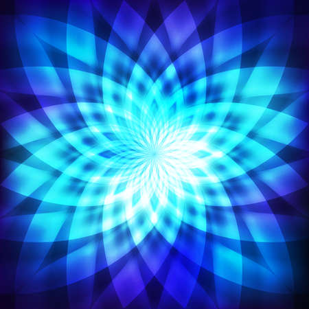 cosmo: Cosmic blue background with abstract flower Illustration