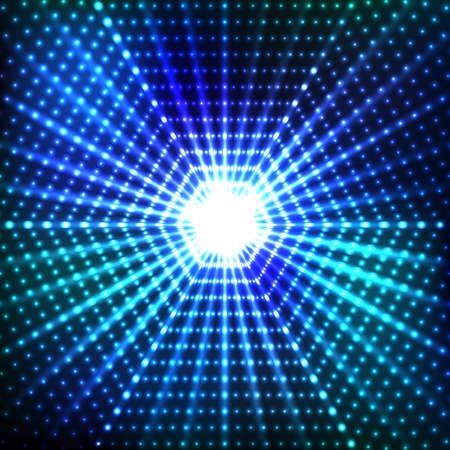 light effects: Hexagonal border with light effects