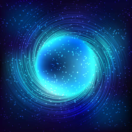 bright light: Abstract cosmos blue background