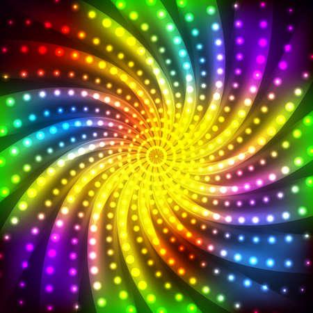 Abstract rainbow disco neon  background Illustration