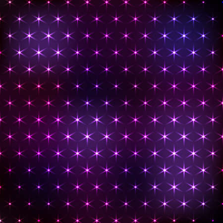 Abstract purple neon background with shine lights