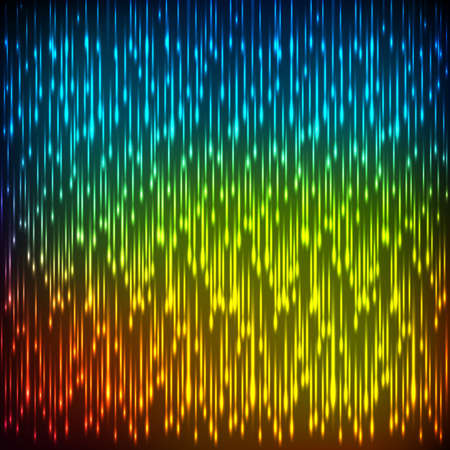 Abstract cosmic rain on colorful blurred background