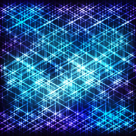 shining star: Abstract blue cosmic  background with shining star